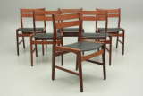 Design chairs by Boltinge Stolefabrik, Danmark. Teak and plastic seats.