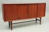 Big sideboard in teak with rosewood bar. Danish design.