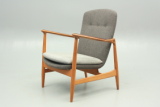 Bovirke and Finn Juhl easy chair. Designed in 1952. Danish vintage furniture design.
