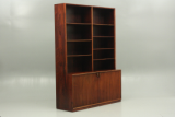 Illums produced bookcase with cabinet in rosewood. Designed by Frode Holm