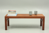 Low bench in rosewood by unknown danish designer and cabinet maker.