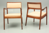 Group Nine model C140 armchairs in rosewood by Jens Risom. Danish Design.