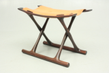 Egyptian stool in rosewood by Ole Wanscher and produced by P Jeppesen, Danmark.