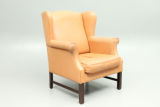 Design leather easy chair produced and designed by Skovby Møbler, Denmark.
