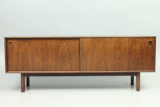 Sideboard model 21 in rosewood designed by Gunni Omann and manufactured by Omann Juns møbelfabrik, Denmark.