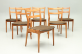 Danish design side chairs in teak designed by Arne Vodder and Sibast Møbelfabrik, Danmark.