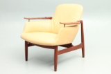 NV 53 lounge chair in teak designed by Finn Juhl and produced by Niels Vodder, Denmark. 