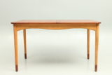 Finn Juhl Bovirke dining table in teak and beech. Danish vintage design furniture from Denmark.