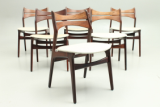 Chairs in rosewood.