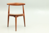 Hjertestolen in teak and oak designed by Hans Wegner and produced by Fritz Hansen.