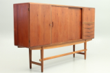 Danish credenza in teak with oak legs.