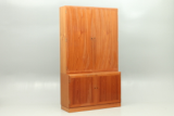 Danish design furniture. Shelvesystem or wallsystem in teak. Vintage scandinavian furniture