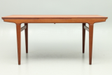 Danish vintage design furniture from Scandinavia. Dining table in teak by Johs. Andersen and Uldum Factory, Denmark.