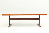 Coffee table from Vejle in rosewood.